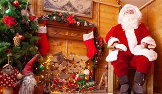 Father Christmas' grotto.