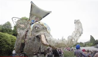 Parade with Elephant structure