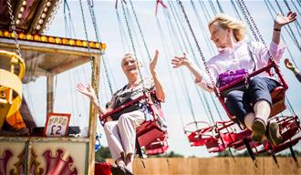 Fairground ride at an event at the Kent Event Centre