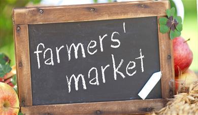 Farmer's market signage