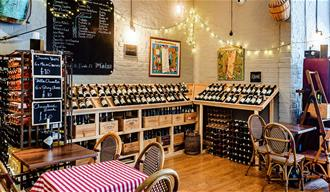 Frederic's restaurant interior and wine shop
