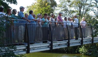 A group of a walking tour of Maidstone