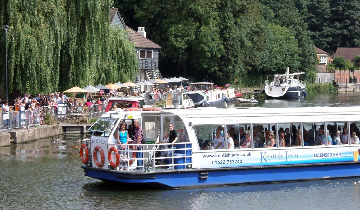 Kentish Lady River Boat at Allington Lock