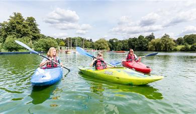 Kayaks at Mote Park