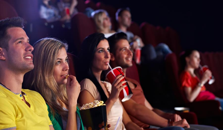 An audience at the cinema