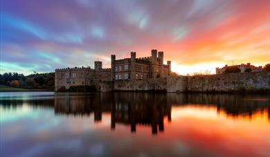 Leeds Castle early morning sunrise.