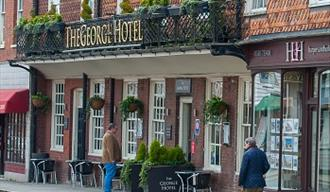 The George Hotel in Cranbrook, borough of Tunbridge Wells, in the Weald of Kent.