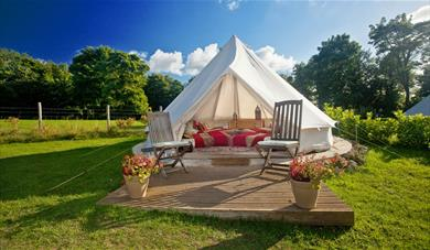 Outdoor Tent at Kits Coty Glamping