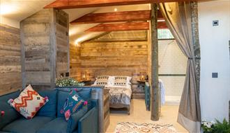 Bedroom at The Potting Shed