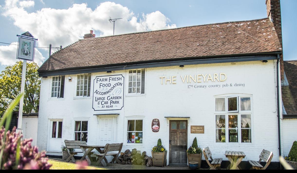 The Vineyard Pub exterior Lamberhurst