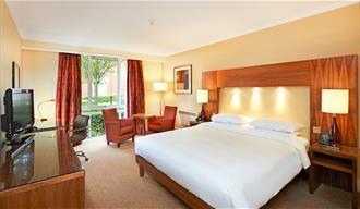 The Hilton bedroom