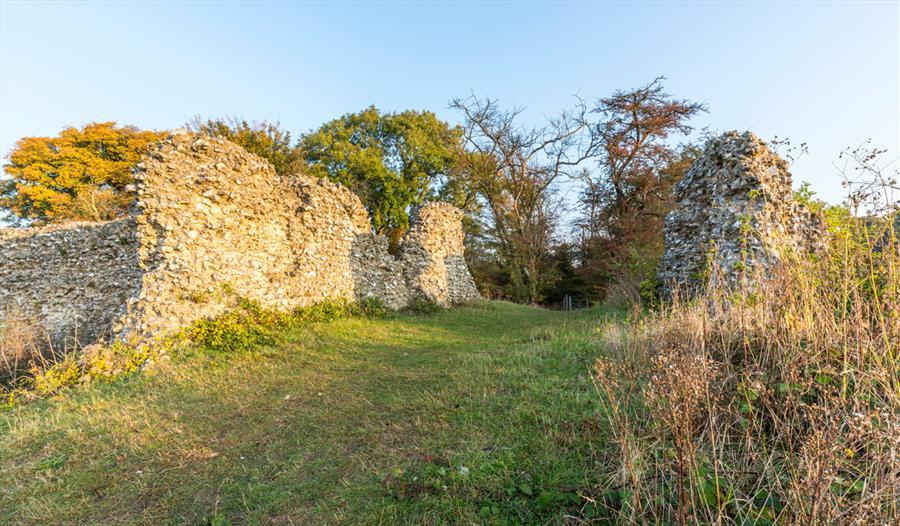 Remains of Thurnham Castle