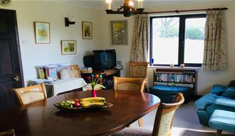 Living area at Bramley Knowle Farm