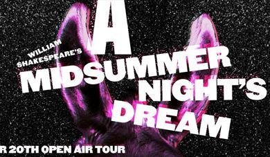 A Midsummer Nights Dream logo and donkey ears