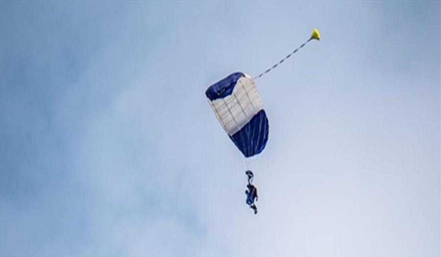 A parachute coming down