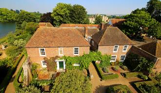 Arial view of the Stable Courtyard bed and breakfast at Leeds Castle.