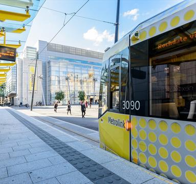 Exchange Square Manchester tram stop