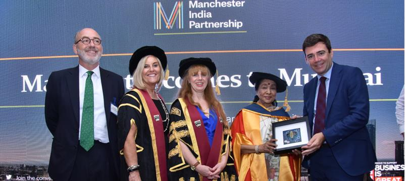 Mayoral visit Asha receives honorary degree from UoS