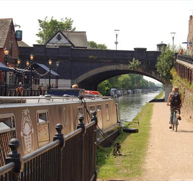 Bridgewater Canal in Trafford, Greater Manchester