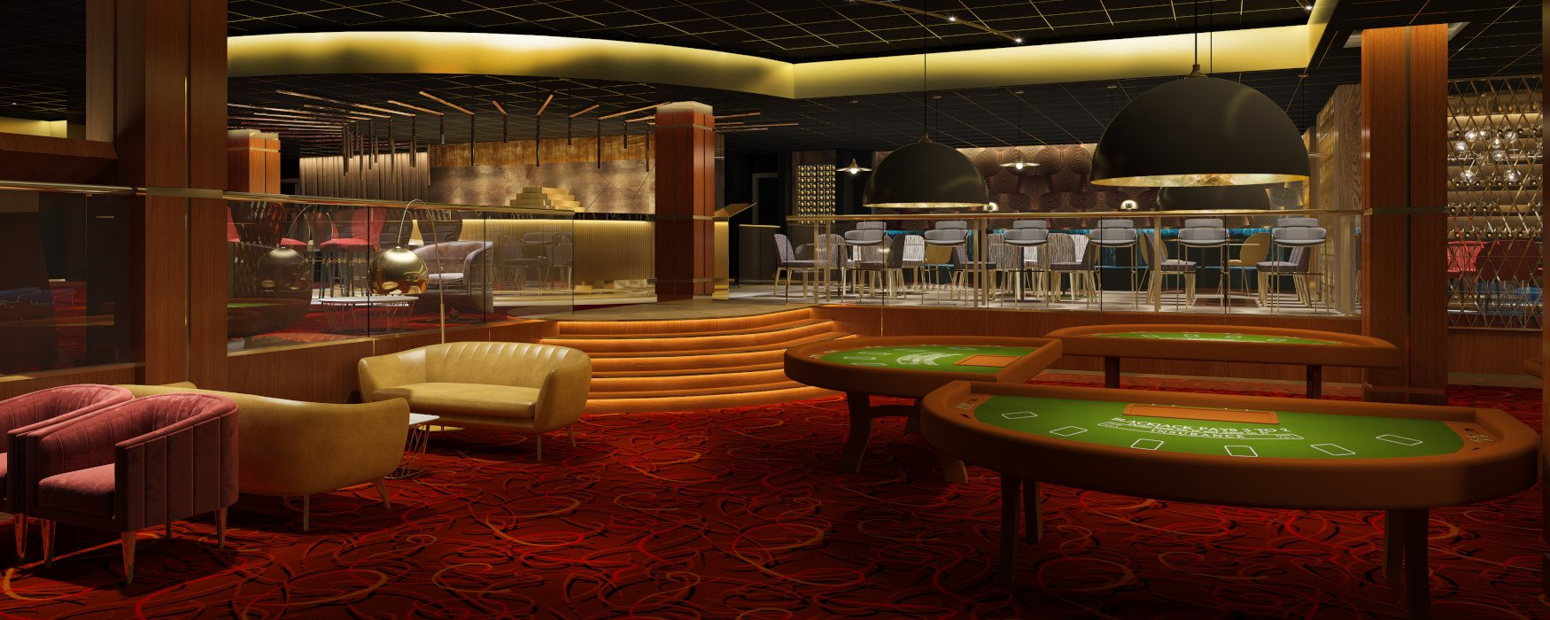 Artist impression of Napoleons Casino, Bar & Restaurant
