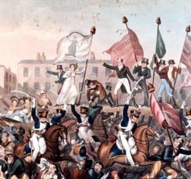Depiction of Peterloo massacre, Manchester