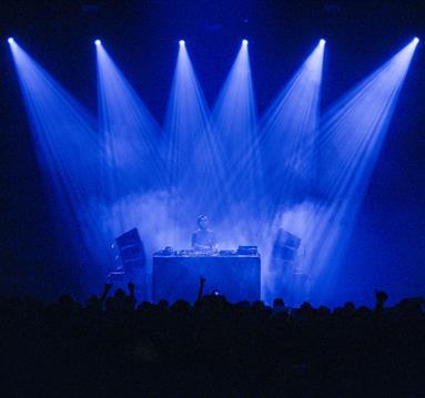 Laurent Garnier: Off the Record concert, blue stage lights