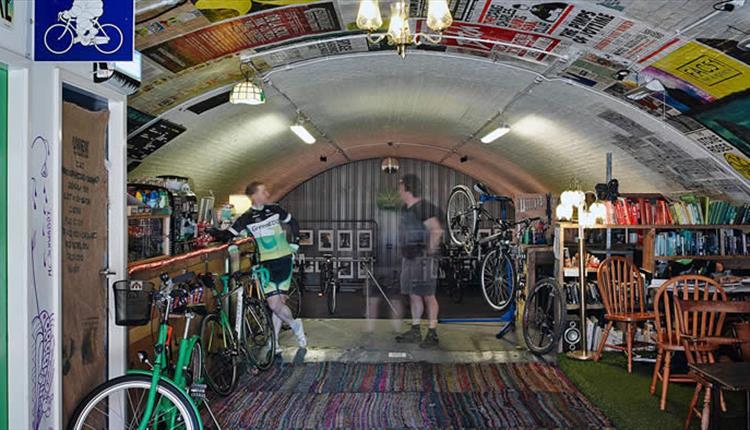 Popup Bikes Coffee Shop