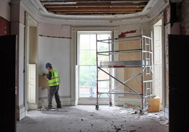 Elizabeth Gaskell's House during a renovation