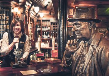 Lowry and Sarah Stoffells at Sam's Bar