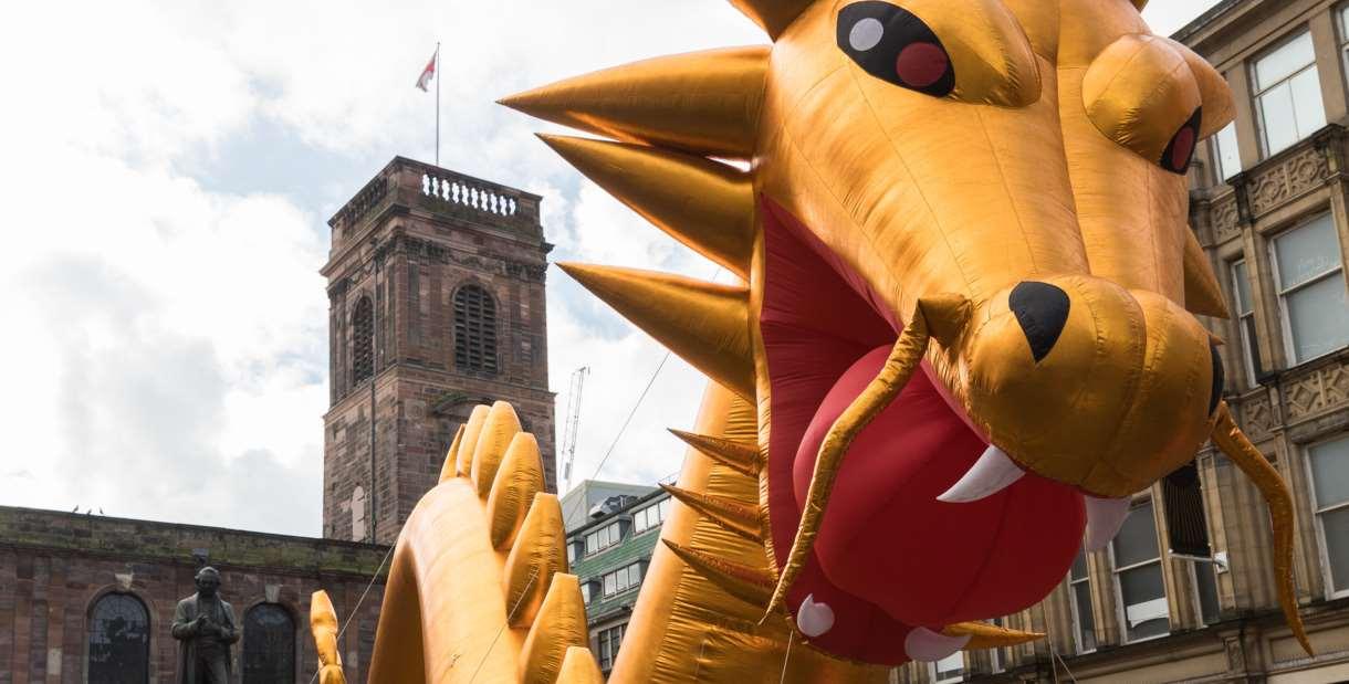 Giant Golden Dragon
