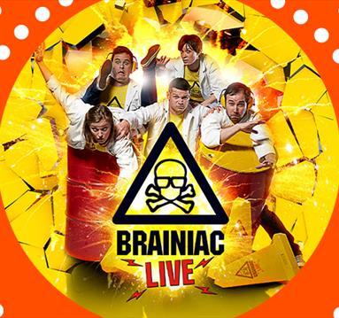 Poster: Brainiac Live, orange frame