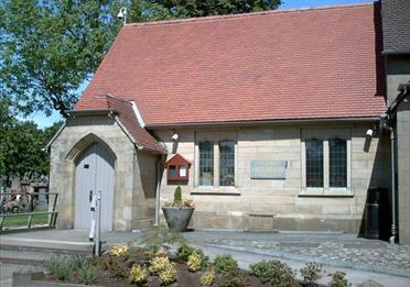 The crematorium at Middleton Cemetery.
