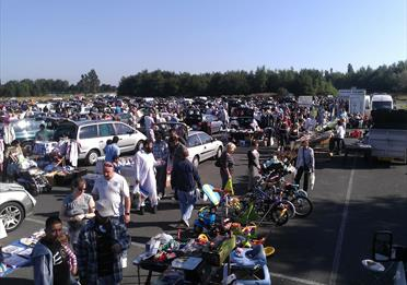 A busy afternoon at Bowlee Car Boot Sale and Market.