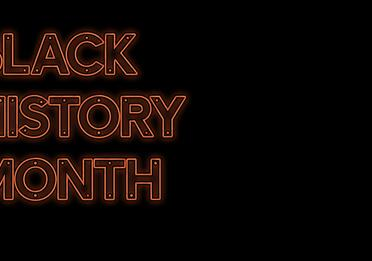 Neon poster: Black History Month