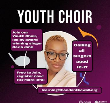 Purple poster: Youth Choir