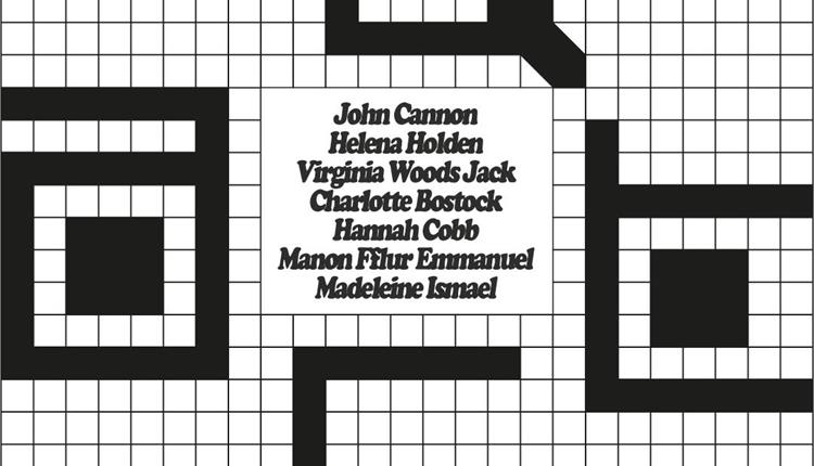Poster with black grid