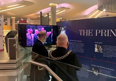 Exhibition opening at Manchester Central Library