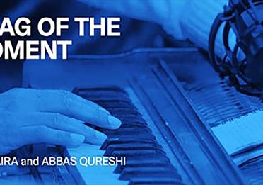 Blue poster: Raag of the Moment