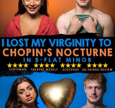 Poster with a young couple: I Lost My Virginity To Chopin's Nocturne in B-Flat Minor