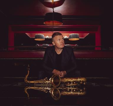 Iain Ballamy with saxophone