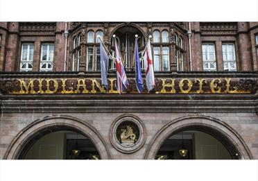 The Midland Hotel entrance