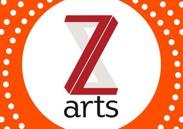 Poster: Z Arts, orange frame