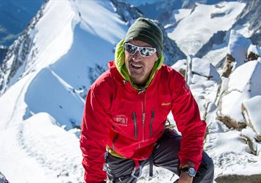 Kenton Cool in mountain gear