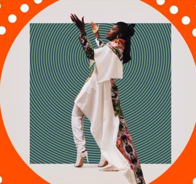 Nigerian singer Eno Williams, orange frame