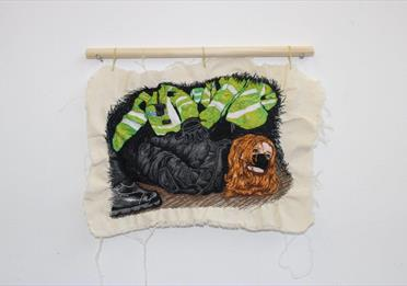 Drawing on a textile