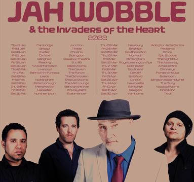 Jah Wobble band members on an album cover