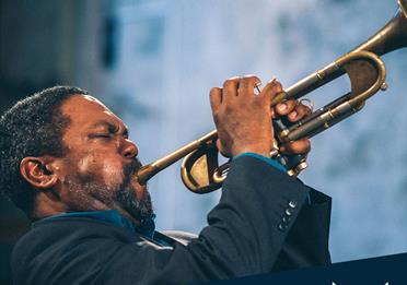 Byron Wallen playing trumpet
