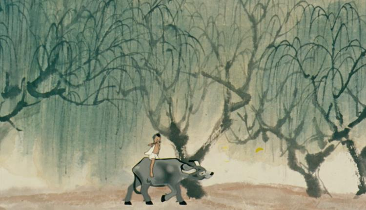 Animation: boy riding an ox