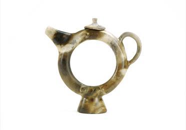 Sculpture shaped as a teapot