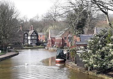Bridgewater canal with distant packet house